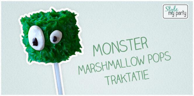Halloween traktatie: Monster marshmallow pops tutorial